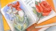 piastrella per Una rosa per un libro